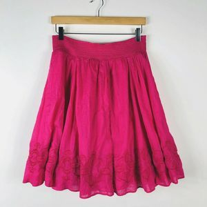Banana Republic Size Small Pink Embroidered Skirt